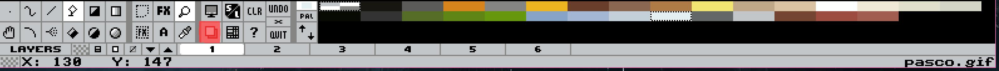 Changer de buffers d'image via la barre d'outils